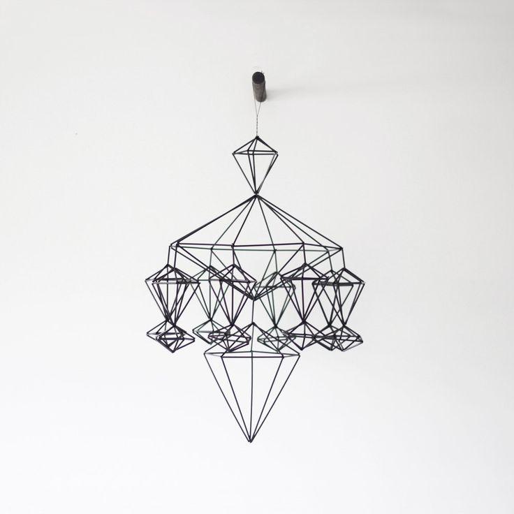 himmeli no. 8 / hanging mobile / modern geometric sculpture. $155.00, via Etsy.