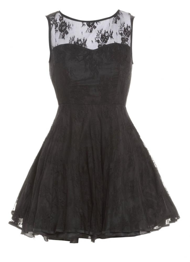 Black Little Black Dress - Black Lace Sleeveless Dress with | UsTrendy