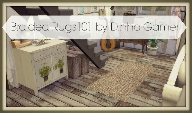 Sims 4 - Braided Rugs101
