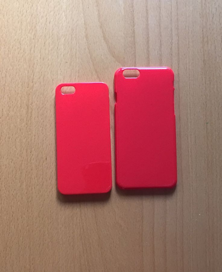 DIY red hard plastic for iphone 5/5s case or iphone 6 case. for bling deco phone and decoden. carcasa roja de plástiico de phonecasesmyladies en Etsy