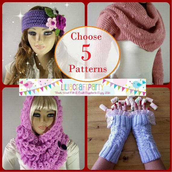 PATTERN DISCOUNT  CHOOSE 5  Knitting & Crochet by LiliaCraftParty
