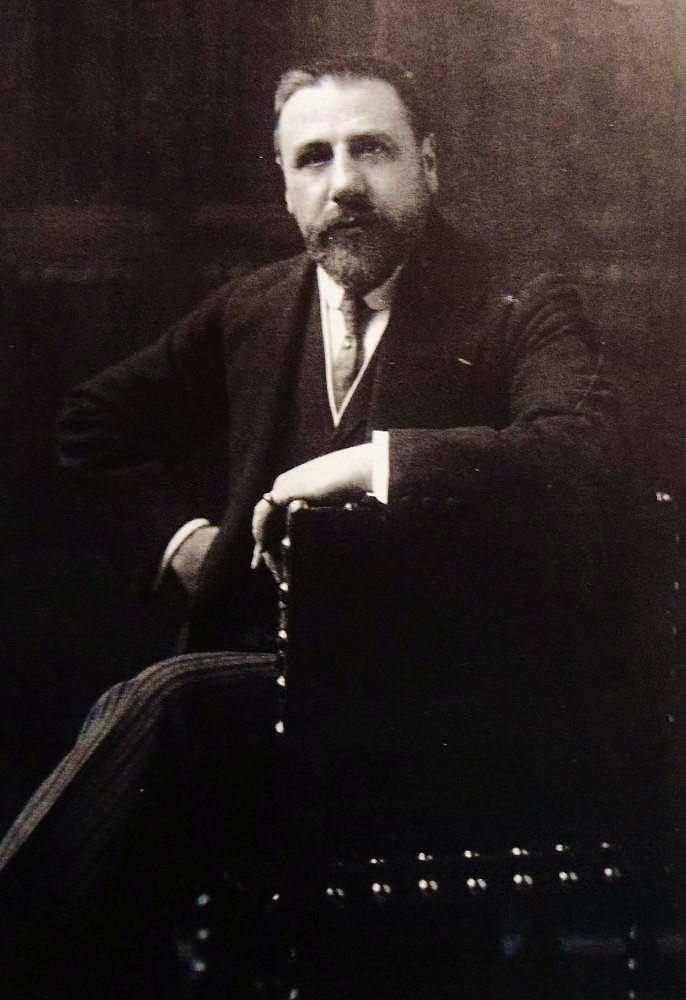 Photo of the Belgian artist Victor Horta (1861-1947)