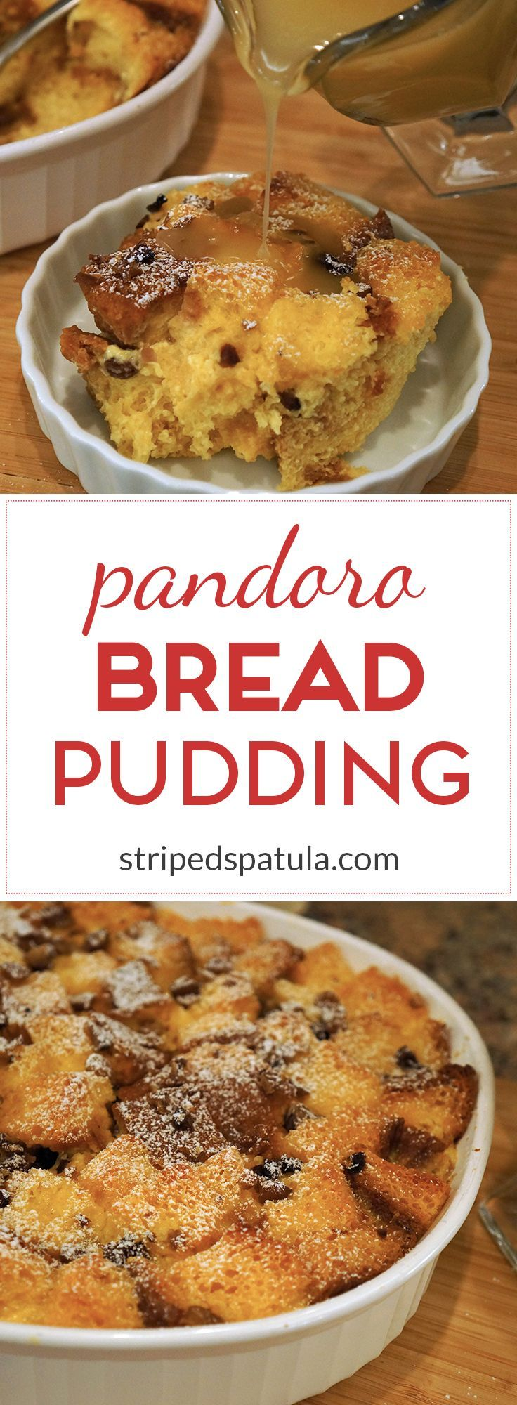 Pandoro Bread Pudding with Warm Bourbon Sauce | Recipe ...