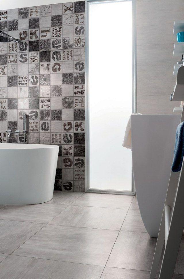 Carrelage salle de bains 12 id es par mirage pour s for Carrelage urban white