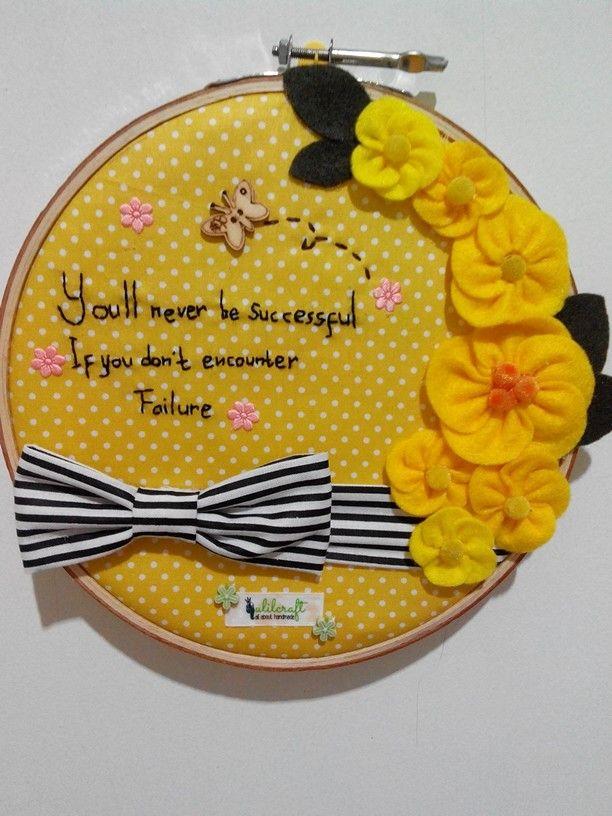 Hoop craft-fabric mixed felt