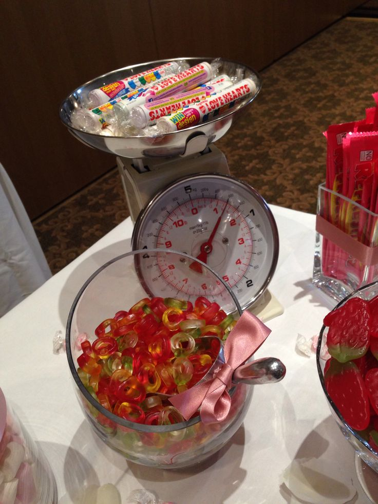 Added in some scales to this candy buffet for some decoration. I'm sure the kids would have enjoyed this!
