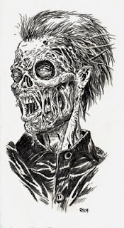 I ... See ... Brains ! - Zombie Art by Rob Sacchetto