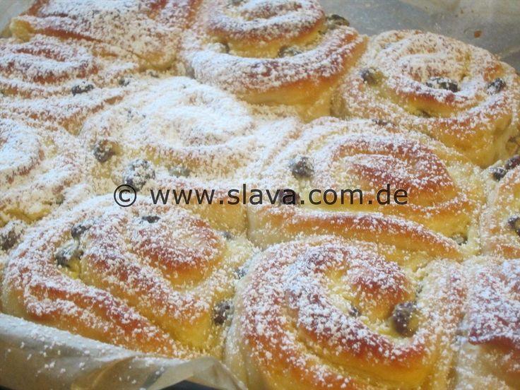 Super softe Vanille-Quarkschnecken
