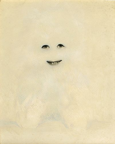 Jessica Wohl - Ghost 2 - Gouache on found photograph