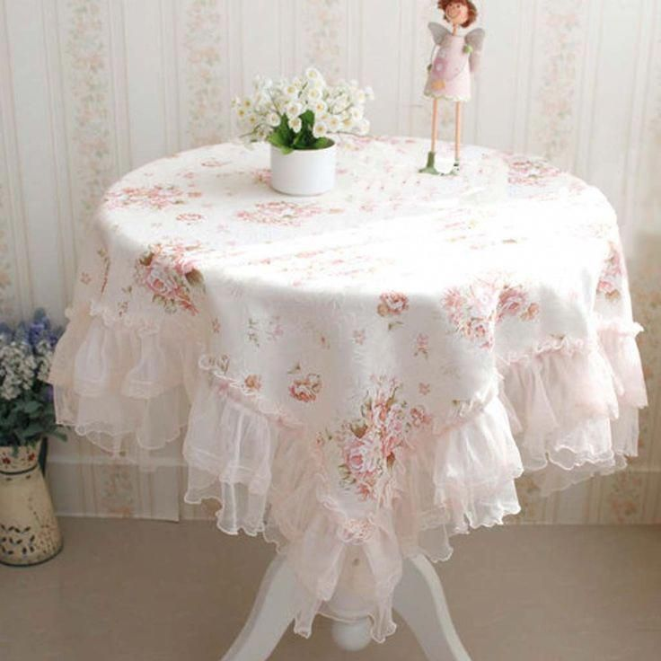 Victorian Rose Ruffled Tablecloth
