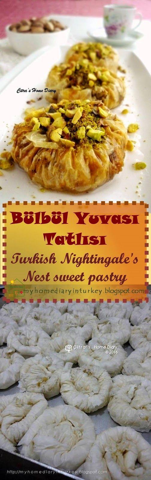 Bülbül Yuvası Tatlısı (Turkish Dessert: Nightingale's Nest sweet pastry). #baklava #turkishfood #dessert #sweets #Turkishdelight #pistachio