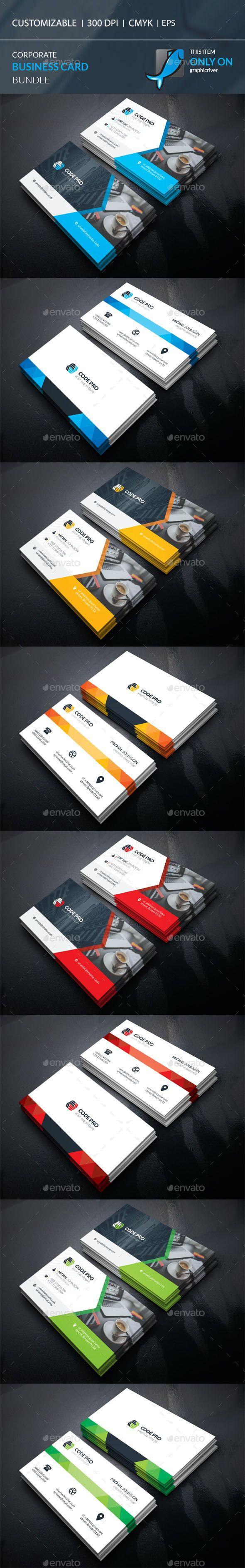 2 Corporate Business Card Templates Vector EPS, AI Illustrator