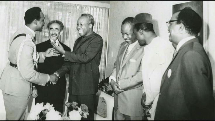 #Emperor_Haile_Selassie_I with other African leaders, like #Mwalimu_Julius_Nyerere of Tanzania. The Emperor encouraged the leaders towards the formation of Organization of African Union (O.A.U) today known as African Union (A.U.)