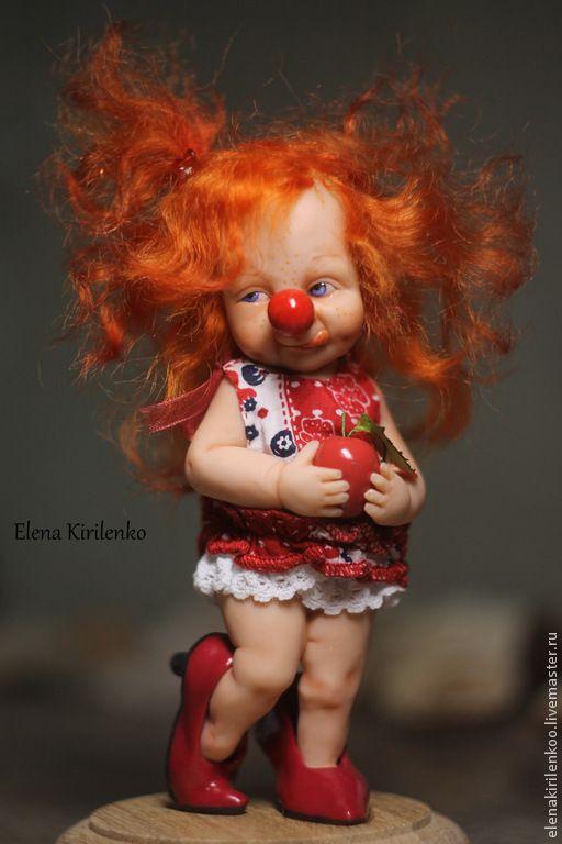 """Купить """"Муся"""" - рыжий, клоун, living doll, хлопок"""
