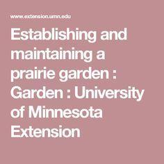Establishing and maintaining a prairie garden : Garden : University of Minnesota Extension