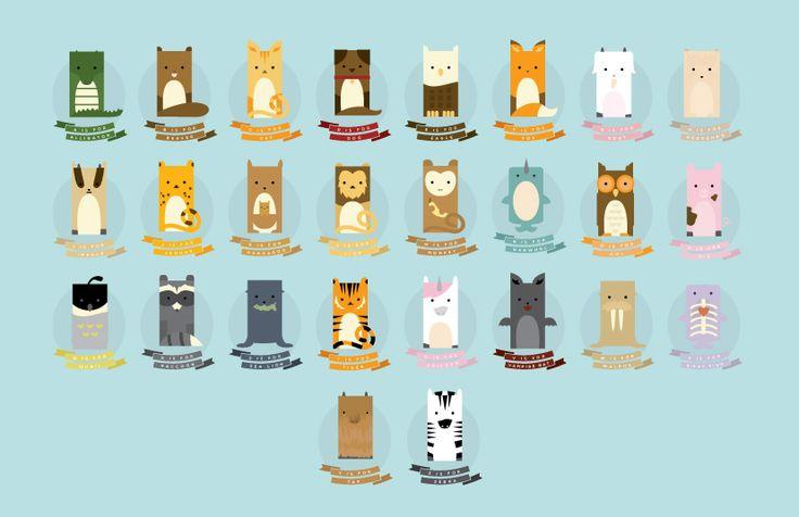 How cute is this animal alphabet?  Abby Putinski   Illustration & Graphic Design