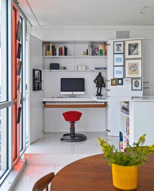 Desain Ruang Kerja Minimalis di Dalam Rumah Nyaman 11 - Ruang Kerja dekat ruang makan