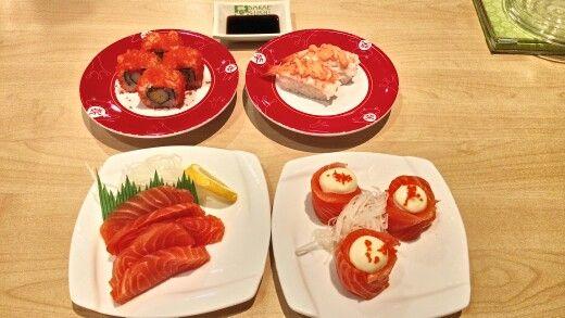 Fresh sushi at Sakae Sushi
