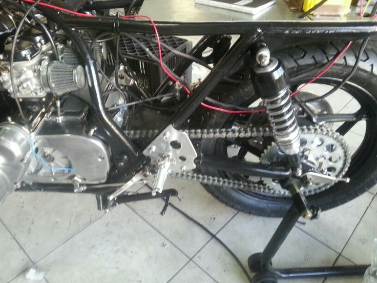 Chain and carbs back on!  Now to finish the wiring