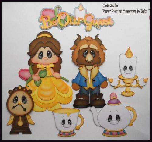 Princess-Set-Premade-Paper-Piecing-Die-Cut-for-Scrapbook-Page-byBabs
