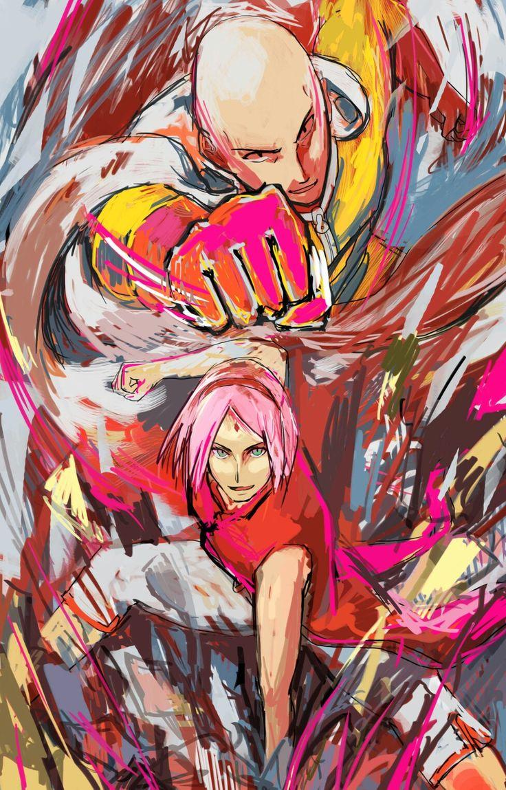 One punch Sakura and sasuke, Sakura, Anime