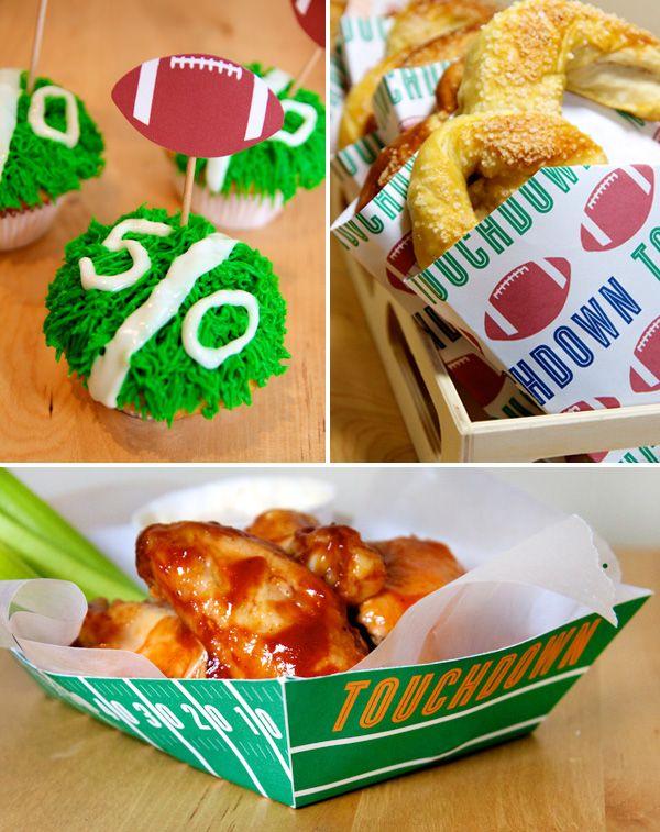Free Football Party Printables + Homemade Stadium Snack Recipes