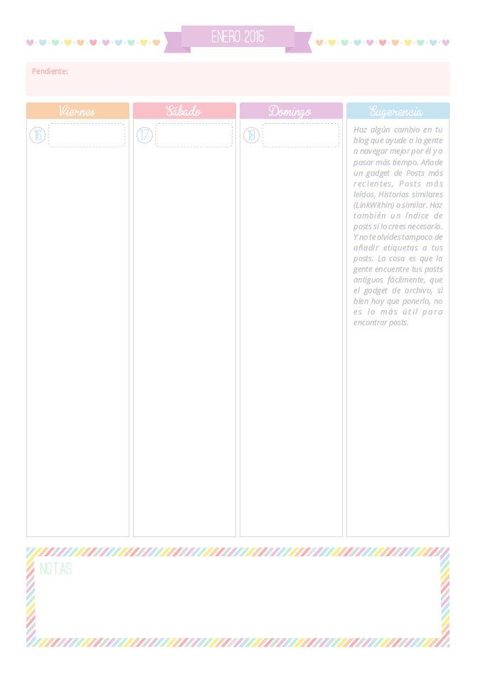 Personalización de Blogs: diseño de blogs, tutoriales blogger, consejos para bloggers... y más!: Agenda 2015