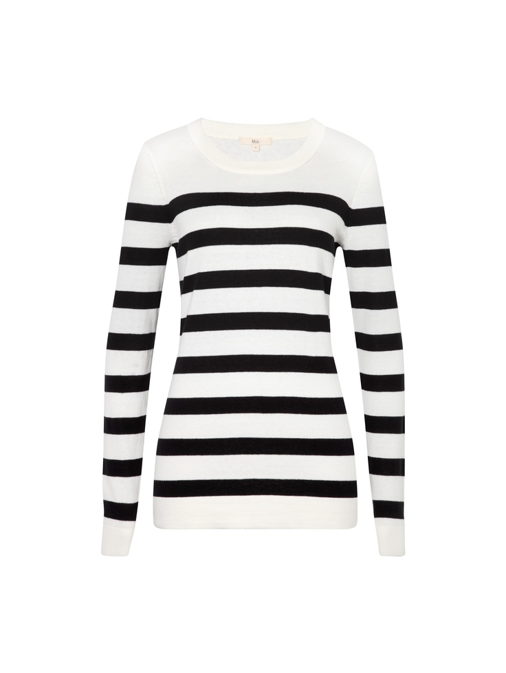 L/S Stripe Crew Sweater
