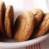 Big Soft Ginger Cookies--I made these earlier this week and they are insanely delicious!  I'm not sure why they added raisins to the online recipe, though, since the BH&G Best of cookbook has it without them.