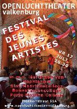 FESTIVAL DES JEUNES ARTISTES Jaarlijks terugkerend festival met de beste acts uit de cabaretprogramma's van de middelbare scholen Sophianum uit Gulpen, Sint-Maartenscollege, Bonnefantencollege en Porta Mosana College uit Maastricht. Vrijdag 17 juli – Aanvang 20.30 uur − € 7