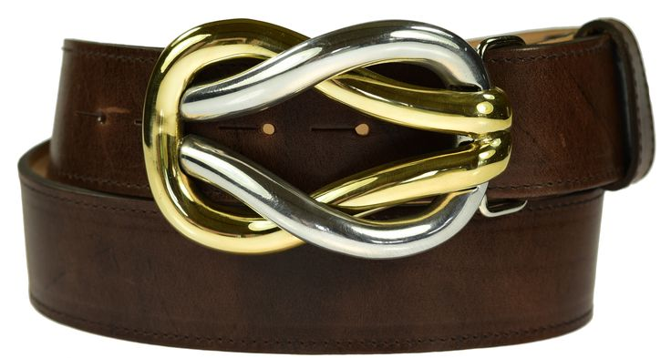 Detachable Reef Knot buckle £55 on brown leather belt £75