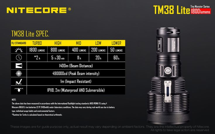 Amazing 1400m beam nitecore tm38 flashlight for use as portable searchlight South Africa