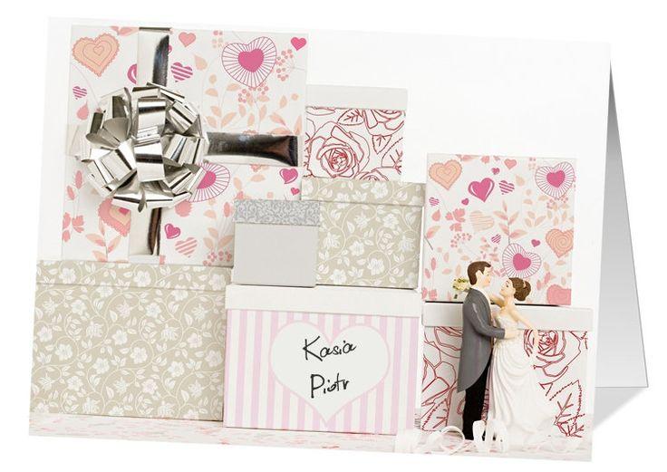 Kartka ślubna z imionami Młodej Pary