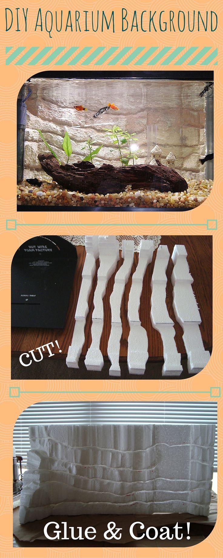 EASY DIY Aquarium Background!  #aquarium #diy #petfish #custom #tutorial #aquascape #aquariumbackground #background #rock #styrofoam