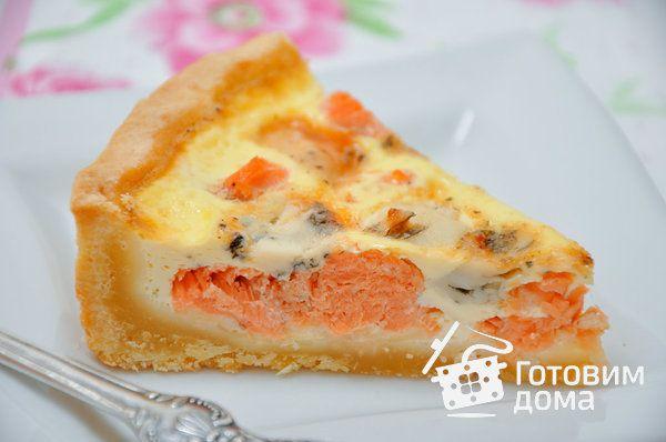 Пирог с лососем и сыром (киш лорен) фото к рецепту 8