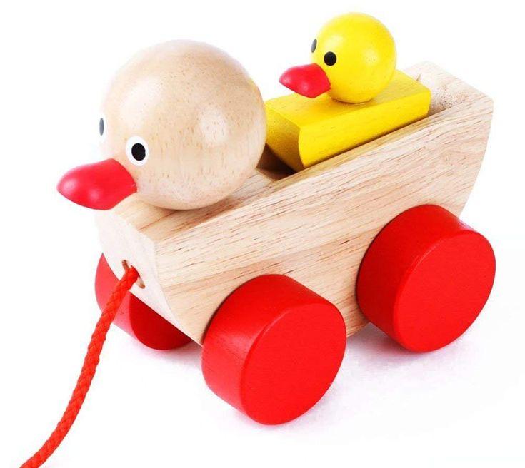 Babe Rock Baby Toddler Childrens Developmental Wooden Duck ...