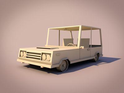 Dribbble - Low poly car by Moek