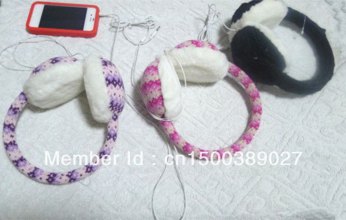 Knitted Cotton ear headphone cable with 3.5 Interface $19.41