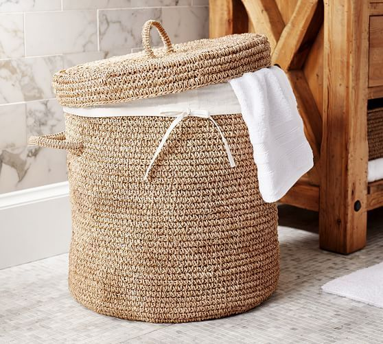 crochet hamper via Pottery Barn