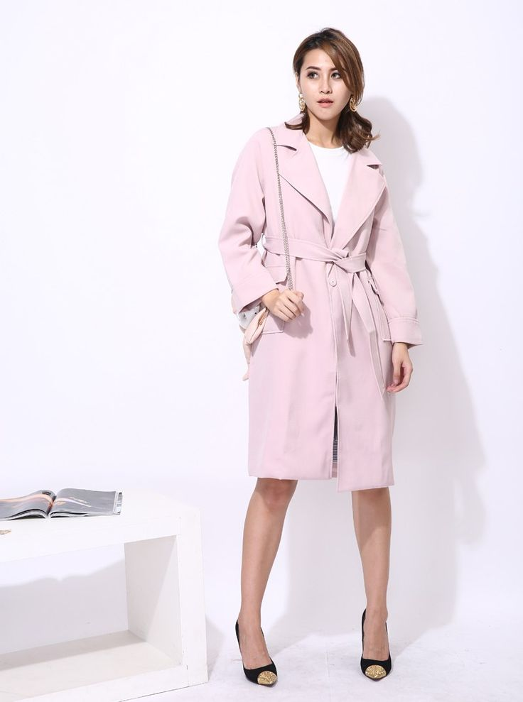 Long Trench Coat with Sash Belt Lace Up //Price: $69.83 & FREE Shipping //     #shopping