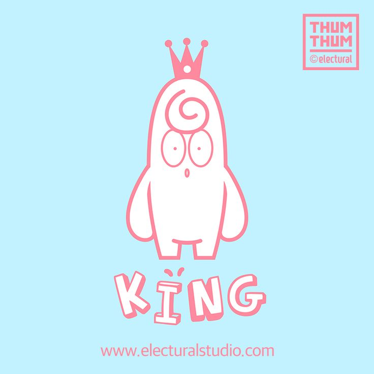 King ThumThum !!    #ThumThum   #character #illustration #sketch #drawing  #illust #good  #Pink #simple  #ThumThumAndFriends #Cute  #likes #colors #cartoon #design #Anime #King #postcard   BY. #ElecturalStudio