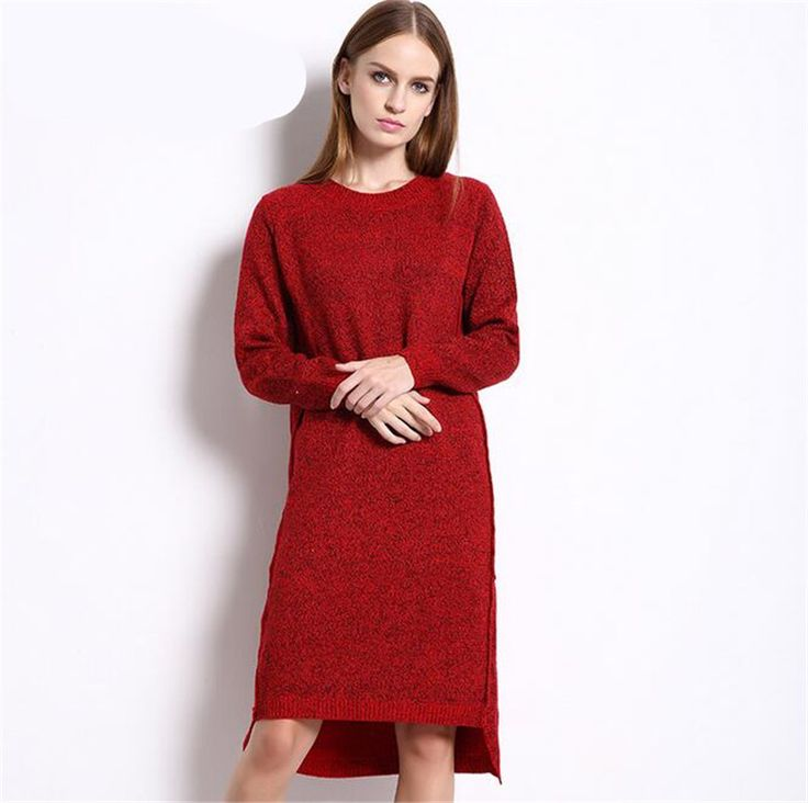>> Click to Buy << Women Dress Casual Business Knitwear Autumn Winter Bodycon O-neck Long Sleeve Dresses completi donna due pezzi estate #Affiliate