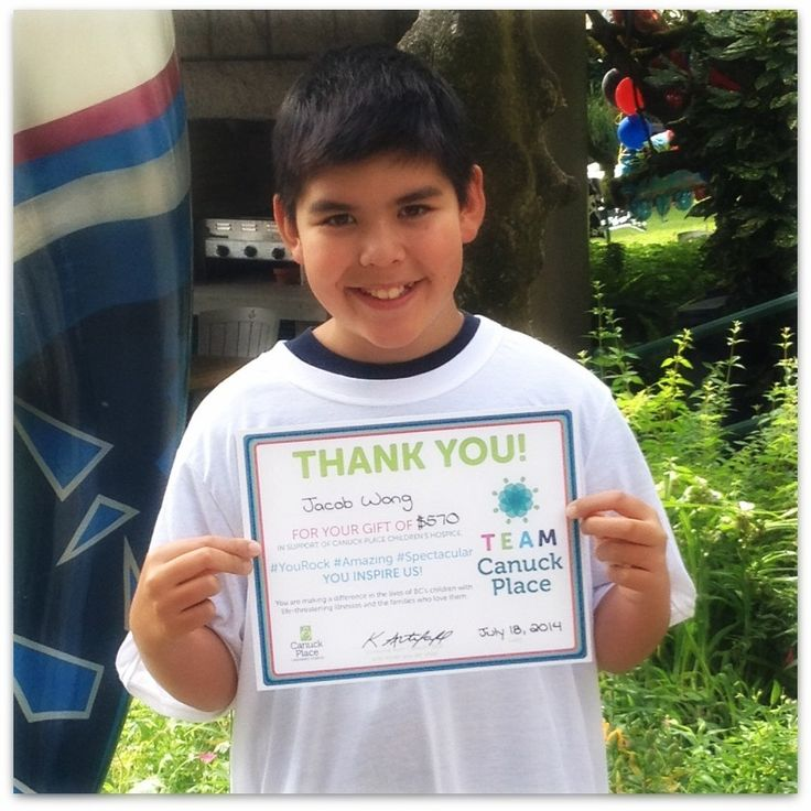 For the 5th year in a row, Jacob Wong celebrated his birthday by raising funds for Canuck Place. This year Jacob raised $570 - a true member of #TeamCanuckPlace!