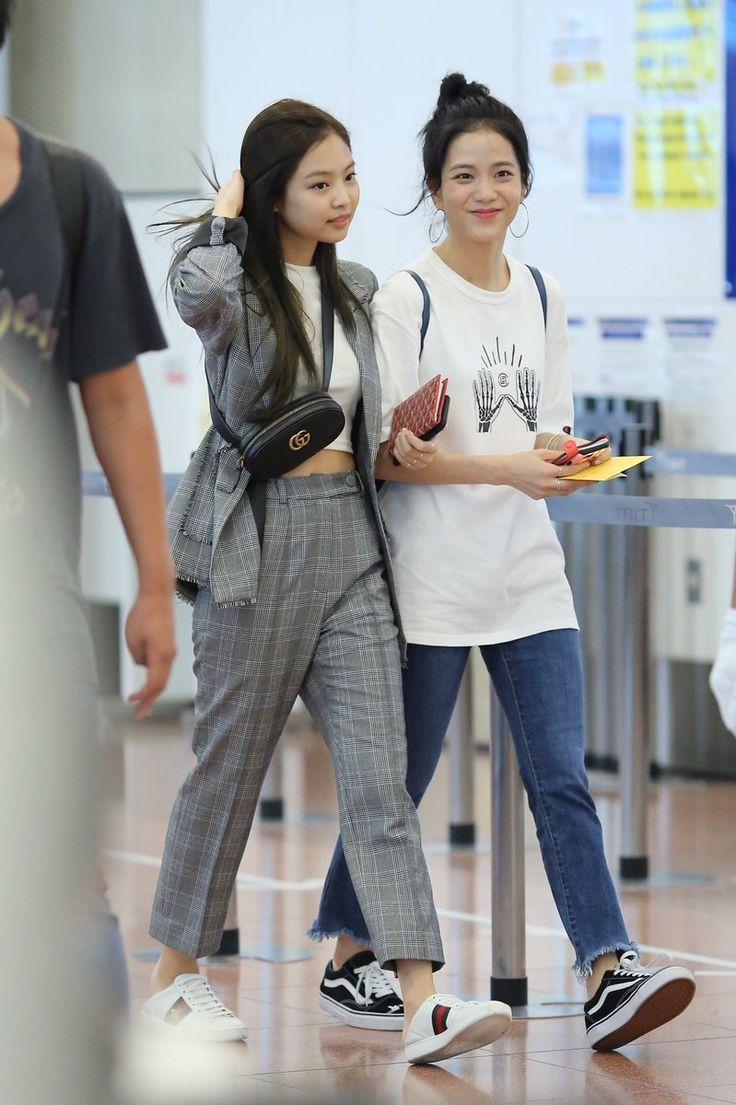 Jennie and Jisoo (Blackpink) | KPOP | Pinterest | Blackpink K pop and Airport fashion