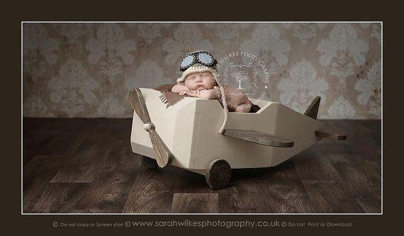 Chapeau aviateur nouveau-né. Chapeau aviateur de par verityisabelle