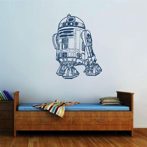 ik2275 Wall Decal Sticker R2-D2 droid robot Star Wars children's bedroom