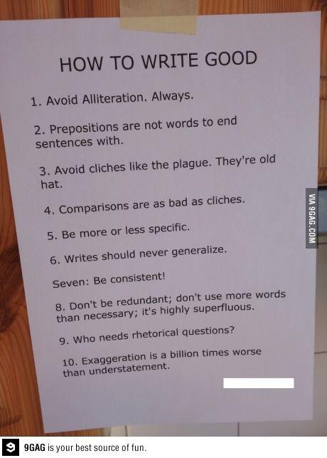 how to write a good twist