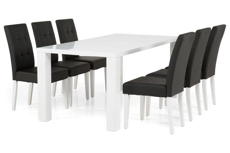 Ruokailuryhmä Cibus 6 Viktor tuolilla - Valkoinen | Trademax.fi