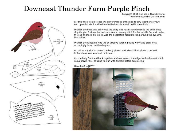 purple finch pattern