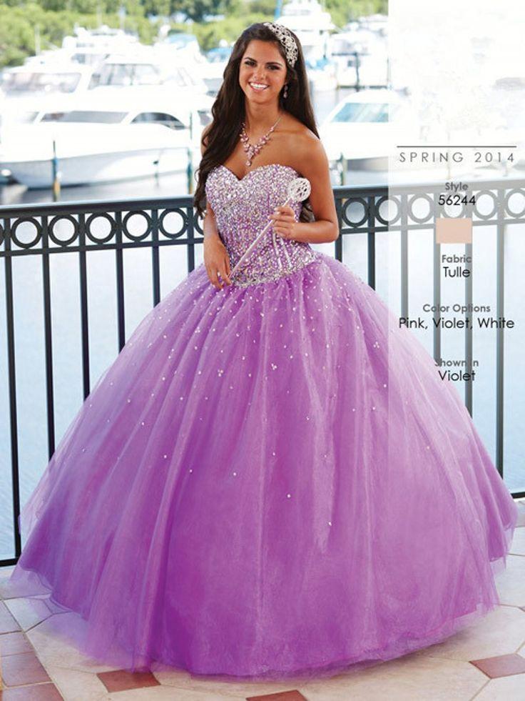 vestidos de 15 lila y blanco - Buscar con Google